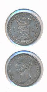 Nederland 1847 1 Gulden Willem II
