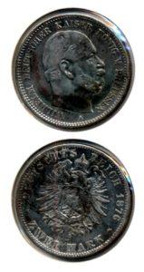 Duitsland 1876 A 2 mark
