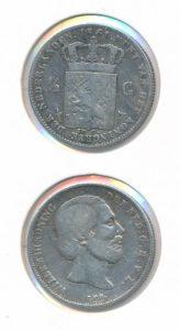 Nederland 1861 0,5 Gulden Willem III
