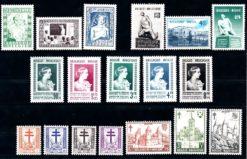 Belgie 1951 Complete jaargang postzegels postfris