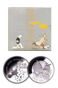 Belgie 2004 10 Euro zilver kuifje in blister