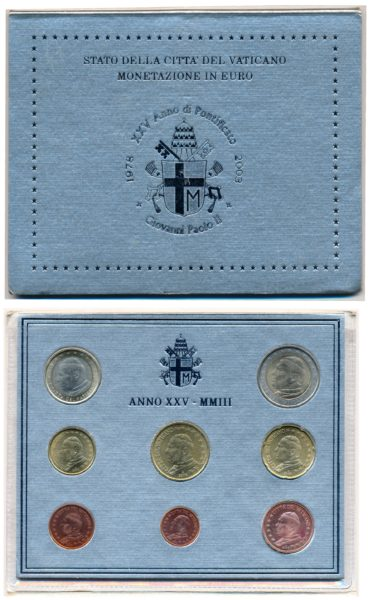55055 Vaticaan 2003 BU Set