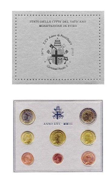 Vaticaan 2003 BU set 1