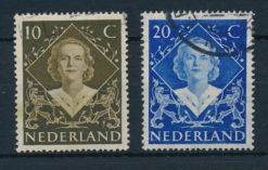 Nederland 1948 Inhuldigingszegel Koningin Wilhelmina   NVPH 506-07
