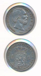 Nederland 1860 1 Gulden Willem III