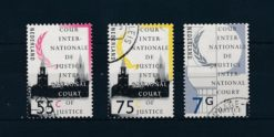 Nederland 1989 Dienstzegels Cour Internationale de Justice Vredespaleis 3 waarden NVPH D48, D52, D58