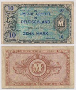 Duitsland 1944 10 Mark bankbiljet