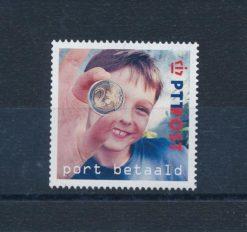 Nederland 2001 Port Betaald zegels Kind met euromunt NVPH BZ7