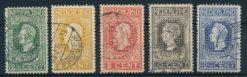 Nederland 1913 Jubileumzegels 100 jaar onafhankelijkheid 2,5 ct - 12,5 ct NVPH 90-94