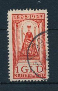 Nederland 1923 25 jarig regeringsjubileum koningin Wilhelmina 1 gld NVPH 129