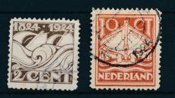 Nederland 1924 100 jaar Ned. Reddingsmaatschappij  NVPH 139-40