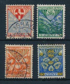 Nederland 1926 Kinderzegels provinciewapens  NVPH 199-02