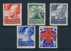 Nederland 1927 Rode Kruiszegels  NVPH 203-07