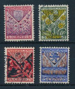 Nederland 1927 Kinderzegels provinciewapens  NVPH 208-11