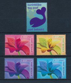 Nederland 2003 Port Betaald zegels Lelies en walvis TPG NVPH BZ10 - BZ14