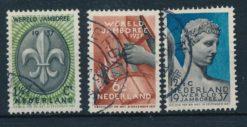 Nederland 1936 Wereld Jamboree Vogelenzang  NVPH 293-95