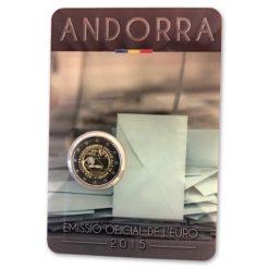 Andorra 2015 2 Euro Stemrecht in coincard