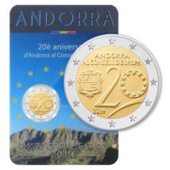 Andorra 2014 2 Euro Raad van Europa in coincard
