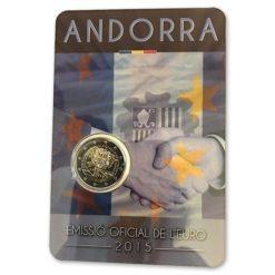 Andorra 2015 2 Euro Douane in coincard