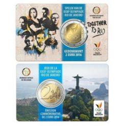 Belgie 2016 2 Euro Rio de Janeiro in coincard Frans