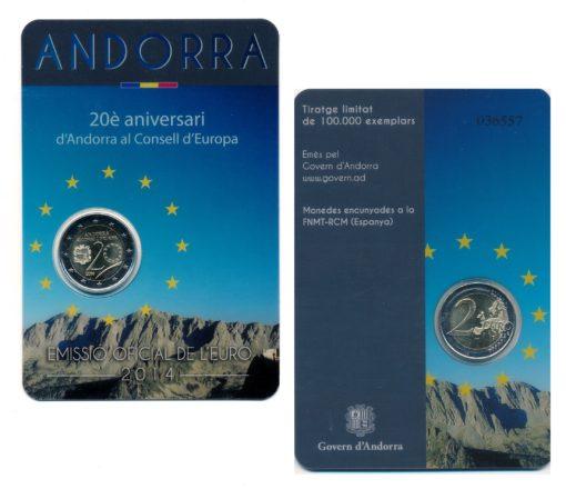 57425 Andorra 2014 Raad van Europa Coincard