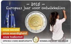 Belgie 2015 2 Euro Europees jaar voor ontwikkeling in coincard Nederlands