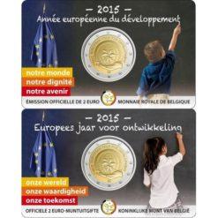 Belgie 2015 2 Euro Europees jaar voor ontwikkeling in coincard Frans