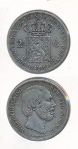 Nederland 1851 2,5 Gulden Willem III