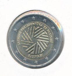 Letland 2015 2 Euro Voorzitter EU