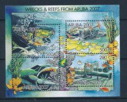 Aruba 2007 Blok Wrakken in het rif NVPH 380