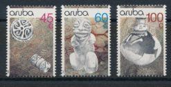 Aruba 1990 Archeologische vondsten NVPH 80-82