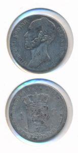 Nederland 1845 A 1 Gulden Willem II