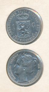 Nederland 1907 1 Gulden Wilhelmina