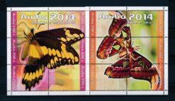 Aruba 2014 2 Blokken Vlinders NVPH 770-71