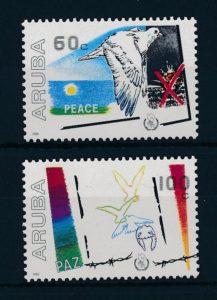 Aruba 1986 Internationaal jaar van de vrede NVPH 16-17