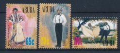 Aruba 1996 America zegels UPAEP Nationale klederdracht NVPH 175-77