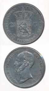 Nederland 1848 2,5 Gulden Willem II