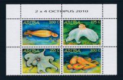 Aruba 2010 Briareus Carribean reef octopus NVPH 496-99