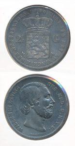 Nederland 1850 2,5 Gulden Willem III