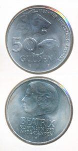 Nederland 1982 50 Gulden 200 jaar Nederland Amerika Beatrix