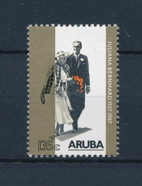 Aruba 1987 Jubileumzegel 50 jaar huwelijk NVPH 21 1