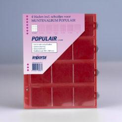 Importa 12-vaks populair muntbladen met rode schutbladen