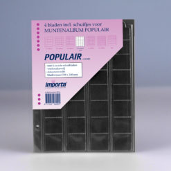 Importa 32-vaks populair muntbladen - voor complete euro series - met zwarte schutbladen