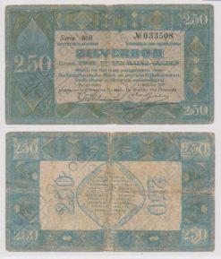 Nederland 1918 - Uitgifte 7 - 2,5 Gulden Zilverbon Buiten Omloop