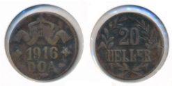 Oost-Afrika-Tanzania 1916 - 20 Heller