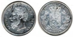 Belgie 1873 - 5 Frank