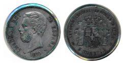 Spanje 1871 - 5 pesetas