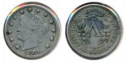 Verenigde Staten 1884 - 5 cent