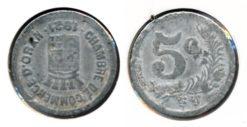 Frankrijk 1921 - 5 cent. Oran
