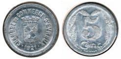 Frankrijk 1921 - 5 cent. Evreux